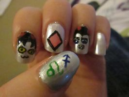 Nepeta and Equius Moirail Nails by karkatkrab