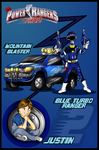 Blue Turbo Ranger-Justin by DK-DarkKitty