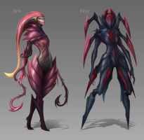Female Monster Redesigns by VegaColors