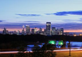 Calgary Downtown looking West by sgt-slaughter