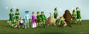 Kids of Hyrule - Ocarina of Time by hyenacub