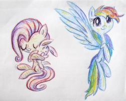 Two pegasi filies by Reporter-Derpy