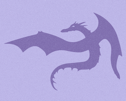 Purple Dragon Silhouette by elosc