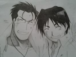 Maes Hughes and Roy Mustang by Eruzaah
