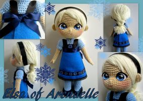 Elsa crochet toddler doll by annie-88