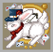 Icon || White Rabbit by Mutealice
