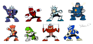 Robot Masters Sketch - MM3 by JonCausith
