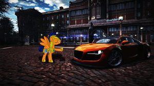 Flash sentry's new audi R8 by iqbalherindra