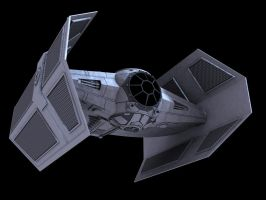3D Darth Vaders Tie fighter by Teonardo