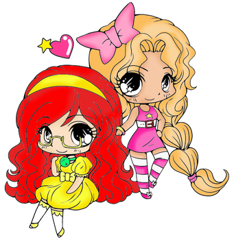 AT: Amy And Mia Chibi by marylovebloom