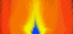 A growing Flame Back Round by M0ssie