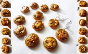 Polymer Clay Zodiac Charms by Saru-Hime