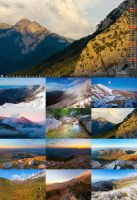 Desktop calendar of National park Paklenica by ivancoric