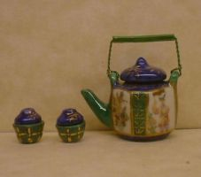 Japanese Tea Set by nativeart