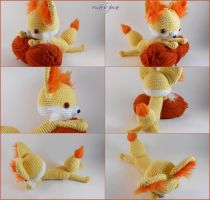 Amigurumi Fennekin - More Details by SailorMiniMuffin