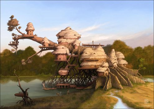 River outpost by Leaubellon
