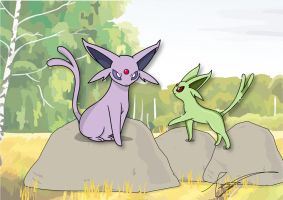 Staring Espeon by FraankBiebs