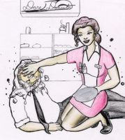 Pied By a Diner Waitress by bakerman70
