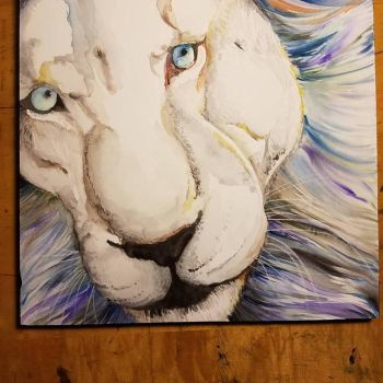 White Lion by TheCrochetDragon