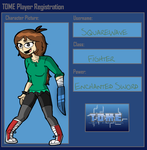 SquareWave TOME Player Registration by BillyBCreationz