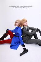 Hetalia:UK and France by azuooooo