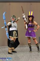 LoL: AD Carry duo ft Ashe and Caitlyn by Cloudy-Seara