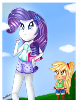 ~Normal day with MY Rarity~ by Sweet-Pillow