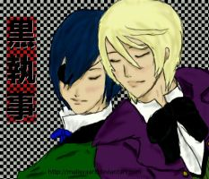 slumber - Ciel and Alois by malisvaart