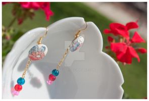 Kimono Jewelry: Earrings : 05 by taeliac