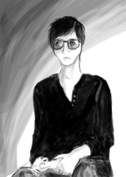 me in black and white by Koma404
