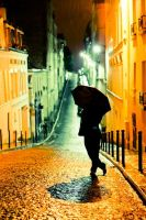 Rainy Montmartre by justelse