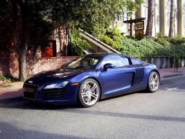 blue Audi R8 in Carmel CA by Partywave