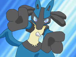 Lucario by aipomrules