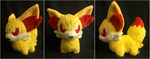 Fennekin Pokedoll by ballerbandgeek
