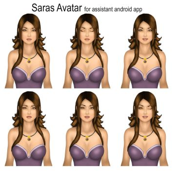 Saras as an assistant on an android app by ronggo