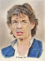 Mick Jagger by HendrikHermans