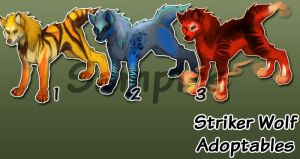Striker Wolves Auction by SkulldogAdopts