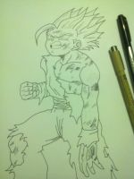 Working on Gohan SSJ2 by leaxed