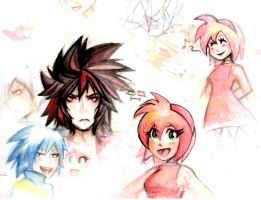 Sonic Gijinkas watercolor sketch dump by mimithefangirl1