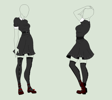 Outfit Adopt - The Black Antichrist Maiden - SOLD by ShadowInkAdopts