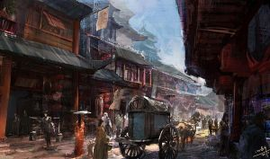 Capital of the Tang Dynasty by xiaoxinart