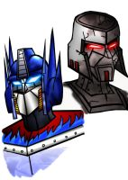 Optimus and Megatron by mmcfacialhair