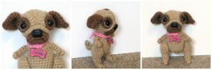 Crochet Pug Doll Paisley by Windowsillcharms