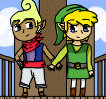 Tetra and Link by Dustyfootwarrior