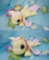 Fluttershy Filly Plush by bluepaws21