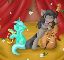 Octavia and Lyra's Encore by SpectralPony