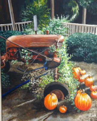 Mike's Farm Tractor Display- final version by Artistbanks