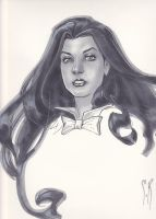 Zatanna Headsketch by StephaneRoux