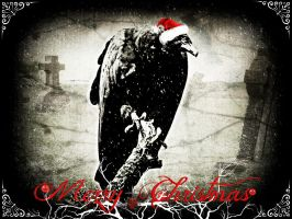 Vultures Love Christmas by astrangeallure