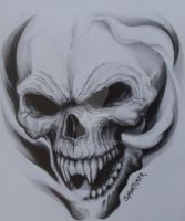 Laughing Skull by Stu-mo